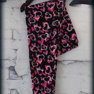 Women's valentine day leggings size os